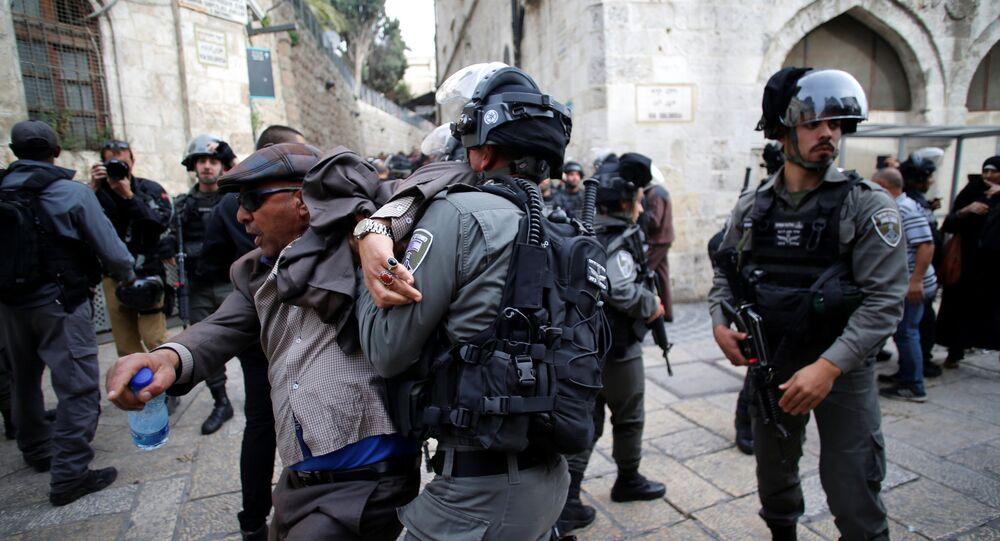 مواجهات بين الشرطة الإسرائيلية ومحتجين فلسطينيين 22-12-2017