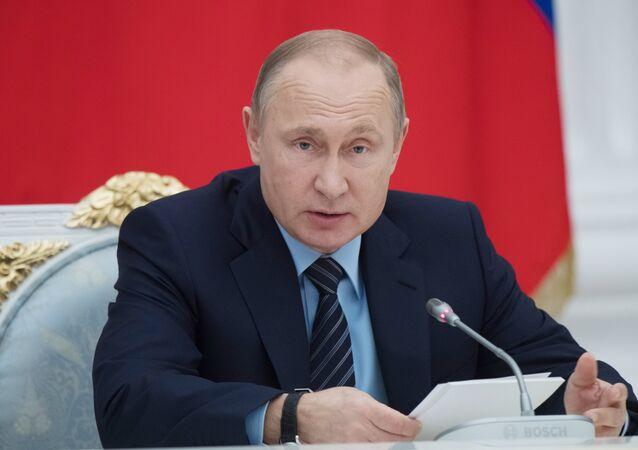 الرئيس الروسي فلاديمير بوتين، 21 ديسمبر/ كانون الأول 2017