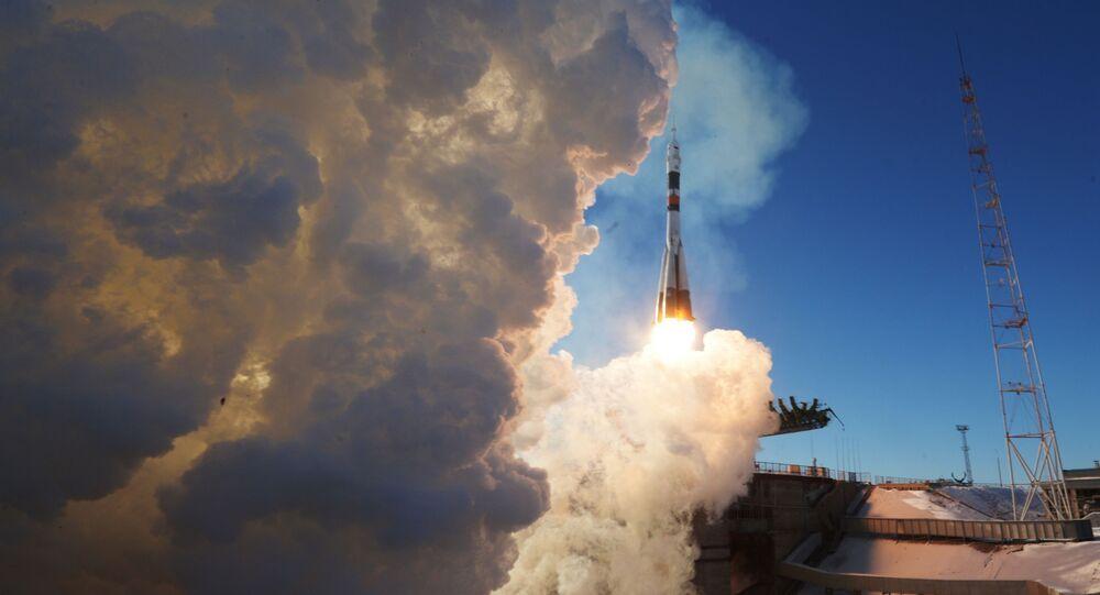 إطلاق المركبة الفضائية سويوز-أم أس-07 وعلى متنها طاقم جديد لمحطة الفضاء الدولية