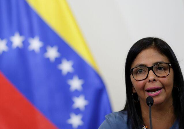 ديلسي رودريغيز رئيسة الجمعية الوطنية التأسيسية بفنزويلا