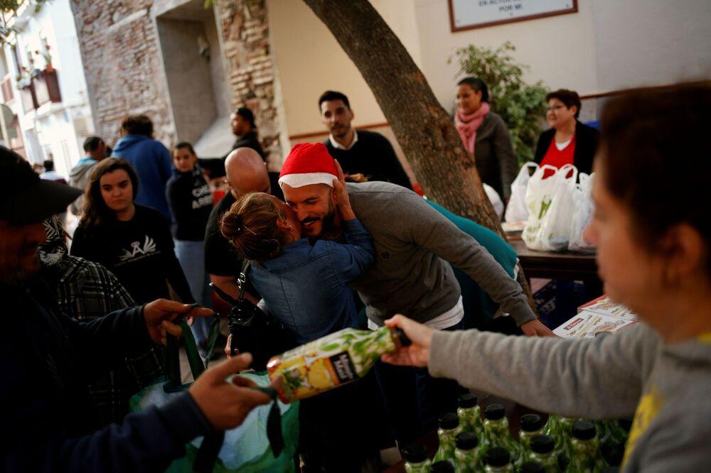 الاحتفالات بعيد الميلاد المجيد - مالقة، إسبانيا 24 ديسمبر/ كانون الأول 2017