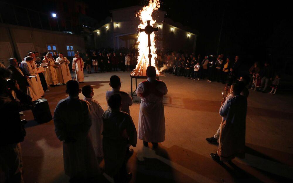 الاحتفالات بعيد الميلاد المجيد - إقليم كردستان العراق، شمال العراق 24 ديسمبر/ كانون الأول 2017