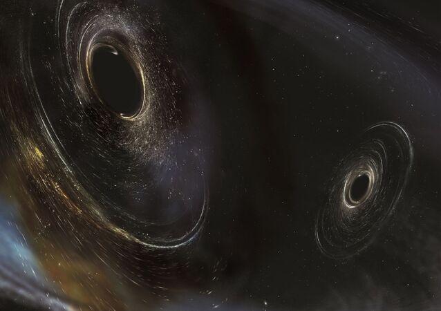 صورة فنية توضيحية للثقب السوداء التي تقع على بعد 3 مليار سنة ضوئية عن كوكب الأرض