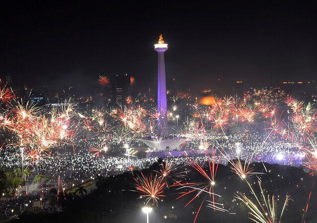 احتفالات رأس السنة 2018 في إندونيسيا