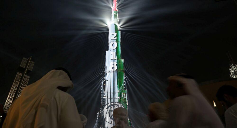 برج خليفة يستقبل 2018