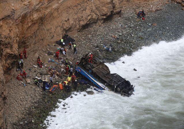 حادث تصادم في بيرو