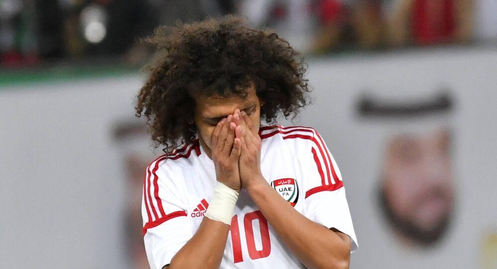 لاعب المنتخب الإماراتي عمر عبد الرحمن (عموري) في نهائي خليجي 23