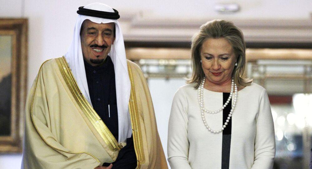 هيلاري كلينتون مع الملك سلمان