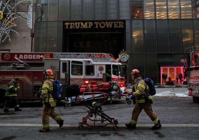 حريق في برج ترامب 8 يناير 2018