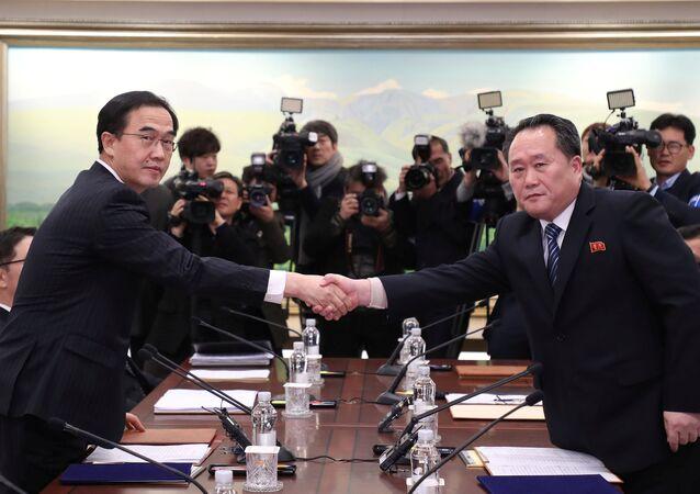2018 مفاوضات كوريا الشمالية والجنوبية 9 يناير