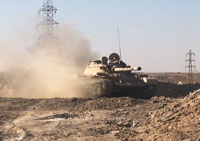 مشهد معركة دير الزور في سوريا