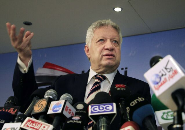 رئيس نادي الزمالك المصري مرتضى منصور
