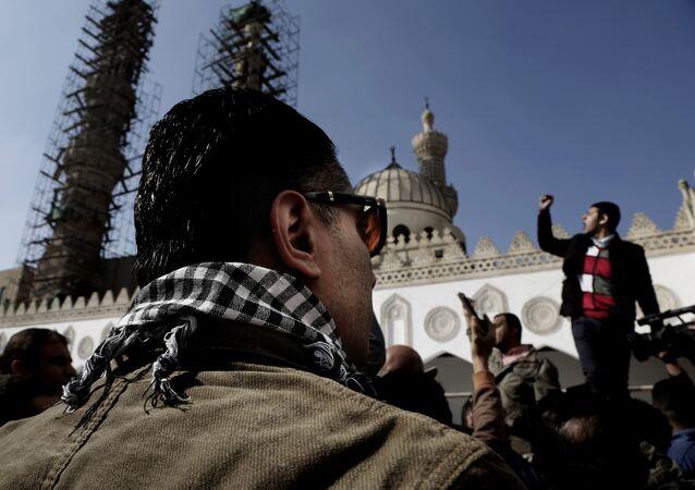 مظاهرات أمام الجامع الأزهر ضد قرار ترامب الاعتراف بالقدس عاصمة لإسرائيل