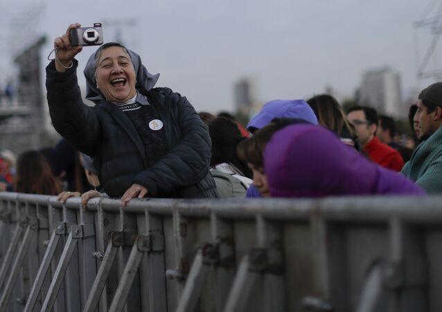 بابا الفاتيكان فرانسيس في سانتياغو، تشيلي 15-16 يناير/ كانون الأول 2018