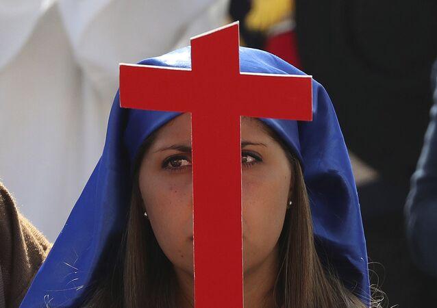 بابا الفاتيكان فرانسيس في سانتياغو، تشيلي 16 يناير/ كانون الأول 2018