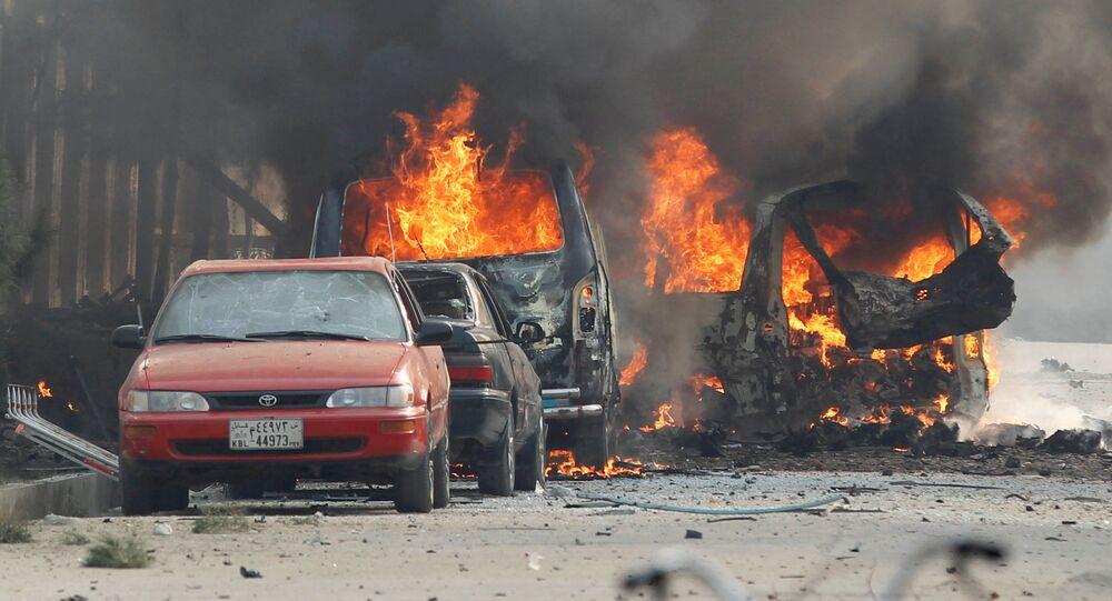 انفجار قرب مكتب منظمة إنقاذ الطفولة في مدينة جلال أباد شرقي أفغانستان، 24 يناير/ كانون الثاني 2018