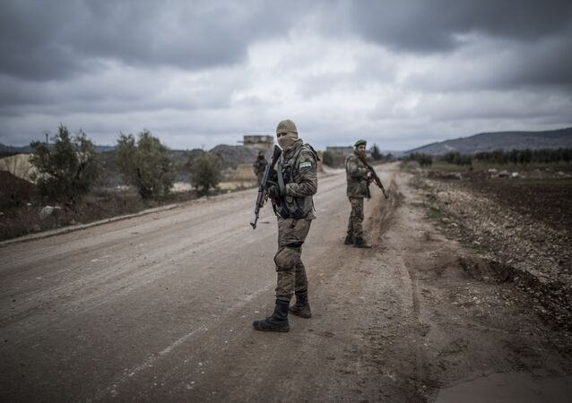 عناصر الجيش التركي المشاركين في عملية غصن الزيتون في عفرين السورية