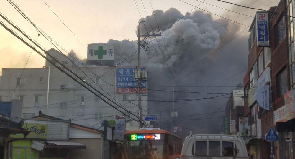 حريق بمستشفى في كوريا الجنوبية