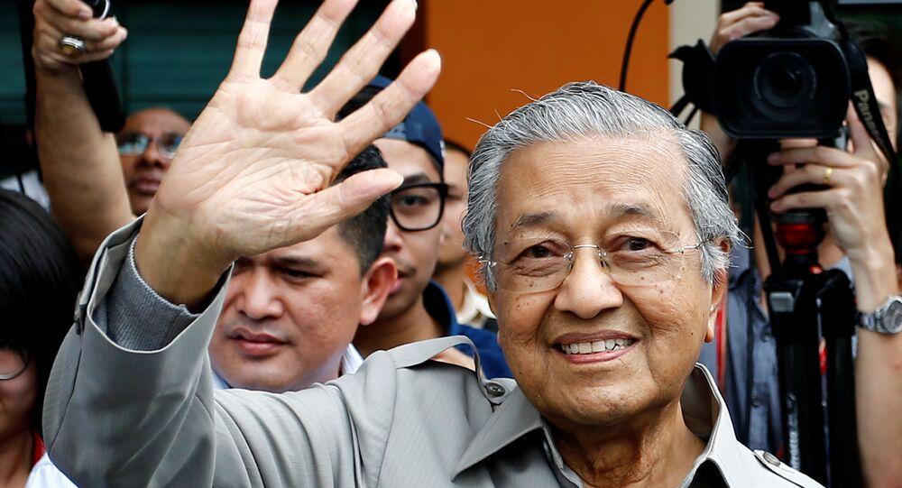 رئيس وزراء ماليزيا السابق مهاتير محمد