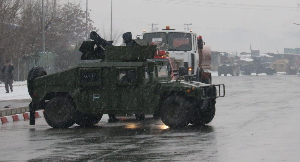 هجوم استهدف ثكنة للجيش الأفغاني بالقرب من الأكاديمية العسكرية في كابول، أفغانستان 29 يناير/ كانون الثاني 2018