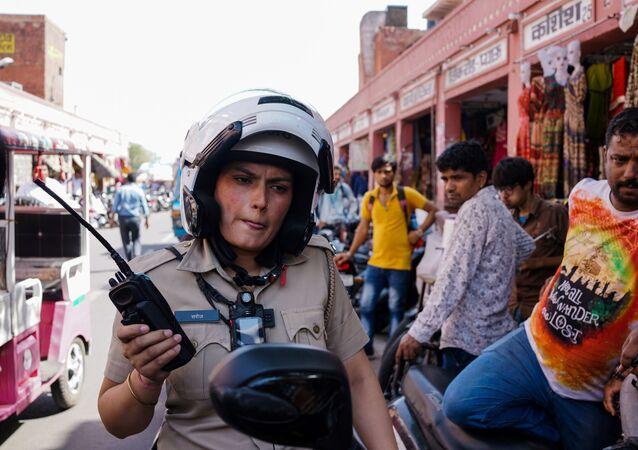 شرطية هندية في جايبور في الهند