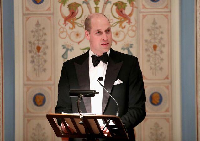 الأمير وليام يلقي خطابا في القصر الملكي في أوسلو