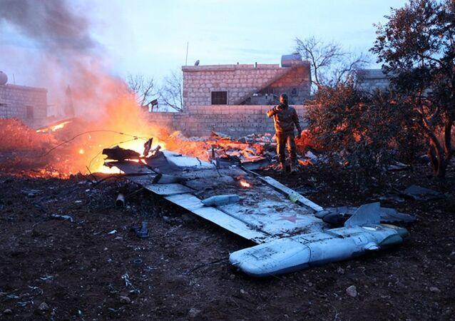 إسقاط طائرة حربية روسية في إدلب