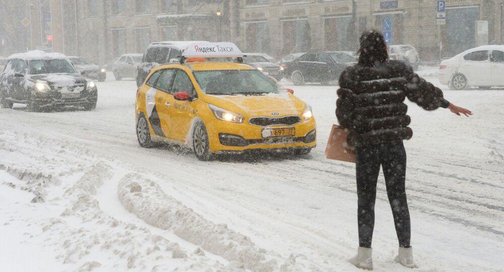 تساقط الثلوج الكثيفة في موسكو