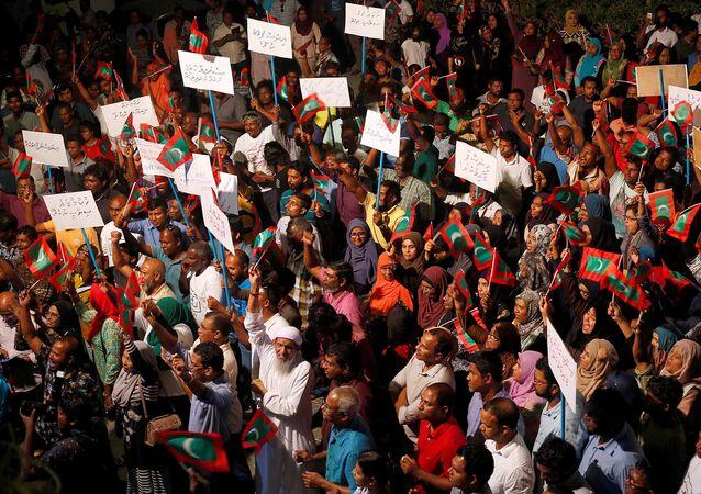 مظاهرات للمعارضة في المالديف