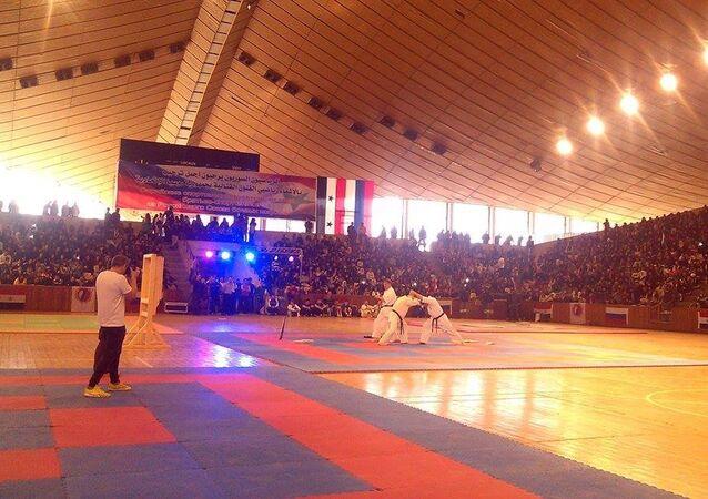 روسيا تقدم تجربتها الرياضية لآلاف المشاهدين وسط اللاذقية