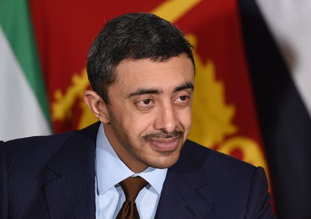 وزير خارجية الإمارات، عبد الله بن زايد