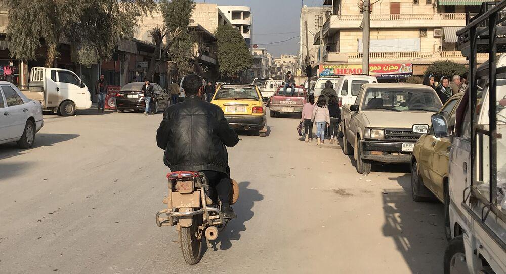 الساحة المركزية في عفرين شمال سوريا