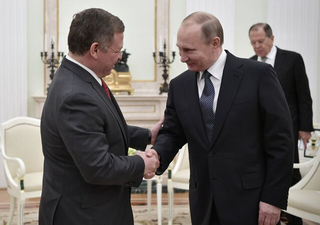 لقاء الرئيس بوتين مع العاهل الأردني عبد الله الثاني، 25 يناير 2017