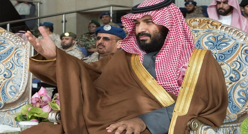 محمد بن سلمان أثناء تخريج دفعة جديدة من كلية الملك فيصل الجوية