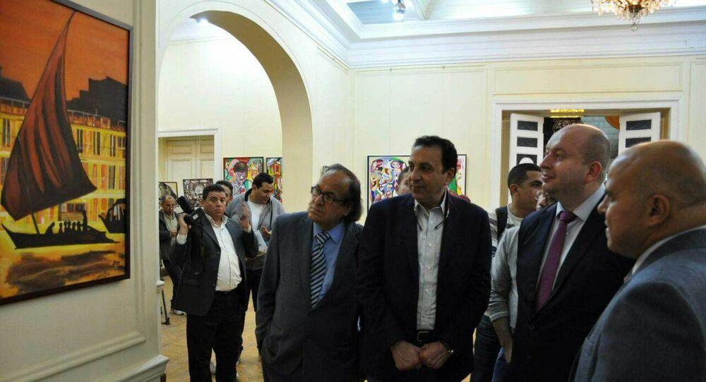 معرض حكايات للفنان بكر الشعراوي، وذلك بقاعة المعارض الكبرى بالمركز الثقافي الروسي