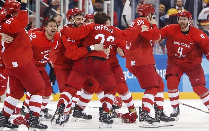 المنتخب الروسي لهوكي الجليد يتوج بالميدالية الذهبية في أولمبياد كوريا الجنوبية