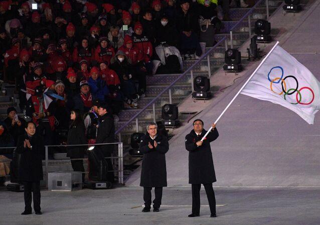 مراسم ختام الألعاب الأولمبية الشتوية 2018 في بيونغ تشانغ، كوريا الشمالية 25 فبراير/ شباط 2018