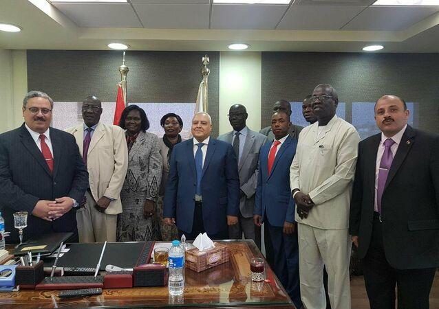 وفد جنوب السودان في الهيئة الوطنية للانتخابات المصرية