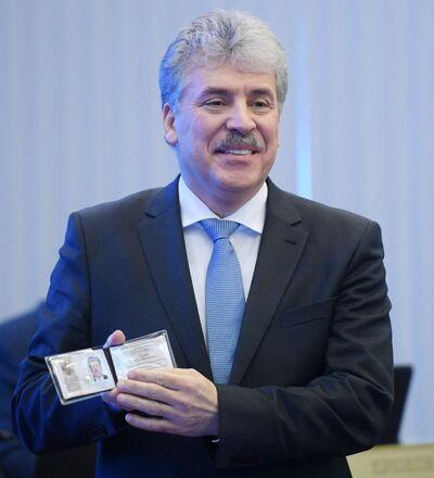 بافيل غرودينين مرشح لانتخبات الرئاسة الروسية لعام 2018 من الحزب الشيوعي، مدير مزرعة سوفخوز بإسم لينين