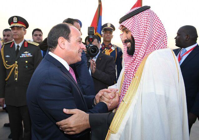 الرئيس السيسي يستقل ولي العهد محمد بن سلمان