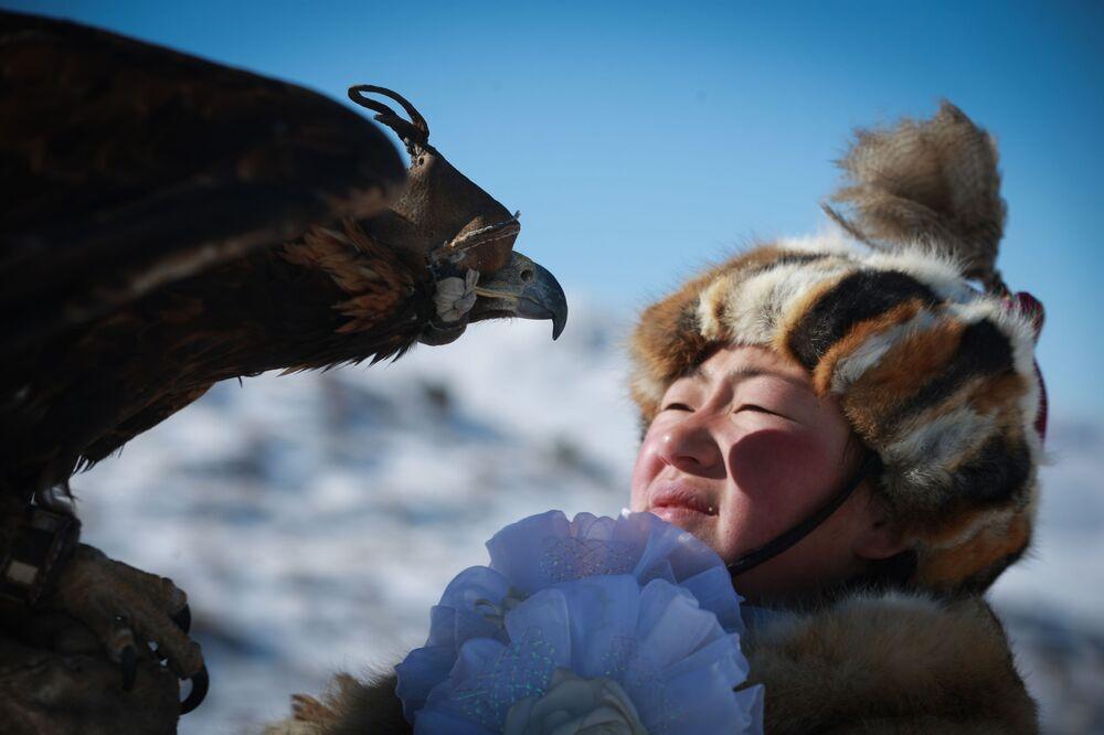 مهرجان الربيع إطلاق النسور في أولا باتور، منغوليا 4 مارس/ آذار 2018