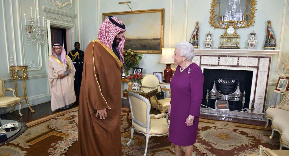 ملكة بريطانيا إليزابيث الثانية الأربعاء، 7 مارس/ آذار تستقبل ولي العهد السعودي الأمير محمد بن سلمان،