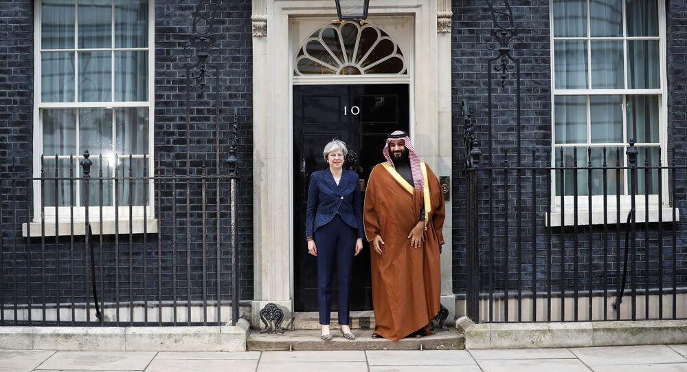 الأمير محمد بن سلمان ورئيسة وزراء بريطانيا تيريزا ماي