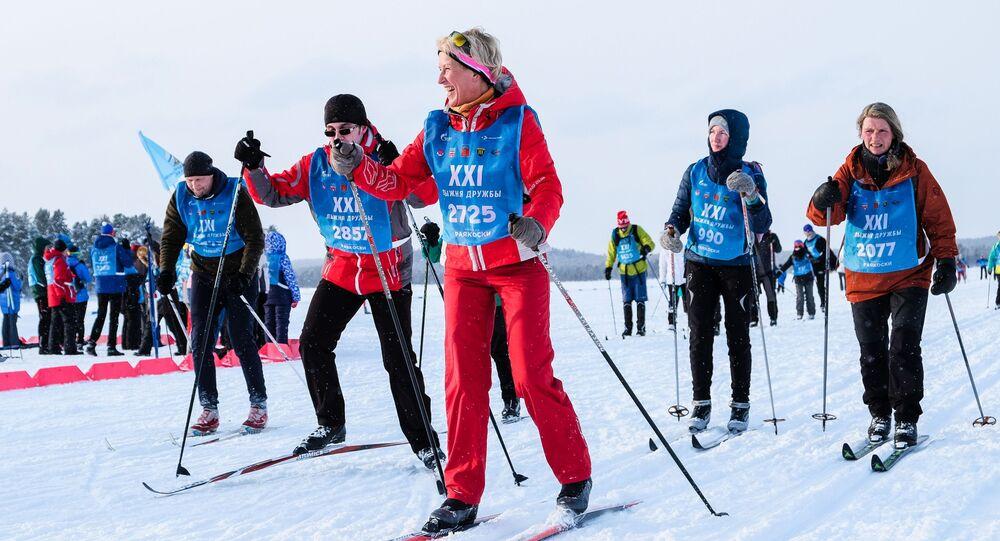 الفعالية الـ 21 للتزلج الجماعي باسم تزلج الصداقة  لبلدان منطقة بارنتس