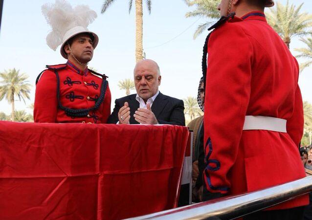 حيدر العبادي يشيع رئيس جهازه الأمني