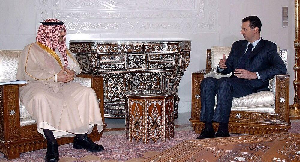 الوليد بن طلال مع الرئيس السوري بشار الأسد