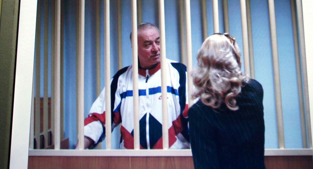 الموظف السابق في المخابرات العسكرية سيرغي سكريبال أثناء محاكمته في موسكو عام 2010