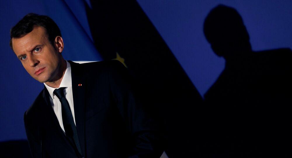 الرئيس الفرنسي إيمانويل ماكرون في باريس، فرنسا 8 ديسمبر/ كانون الأول 2017