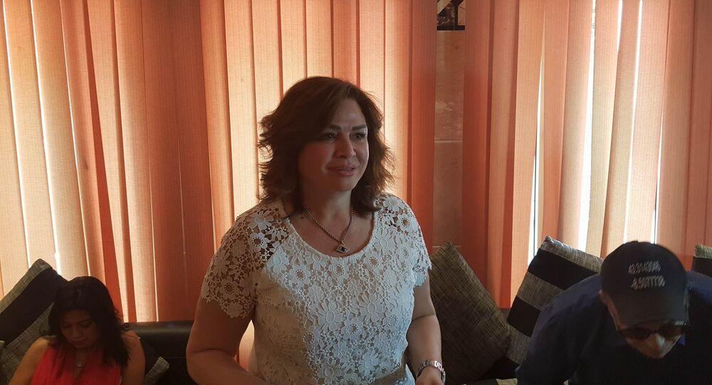 الممثلة المصرية إلهام شاهين في مهرجان الأقصر السينمائي الدولي السابع 18 مارس/آذار 2018