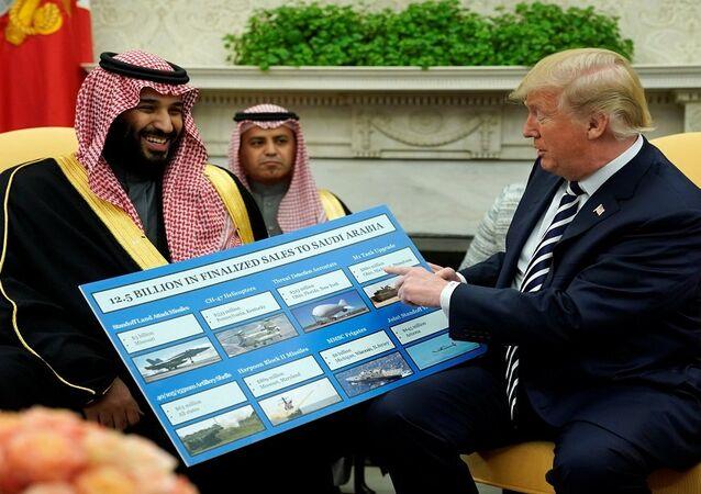 لقاء ترامب ومحمد بن سلمان في البيت الأبيض